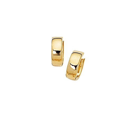 (JewelStop 10k Yellow Gold 5mm Huggie Hoop Hinged Earrings,)