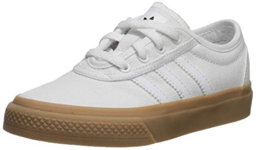 adidas Originals Unisex adi-Ease Sneaker, White/Gum/Black, 12K M US Little Kid (Dark Gum Kids Shoes)