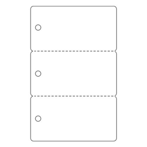 CR80 30 Mil 3Up Key Tag PVC Cards - 1000 Pack
