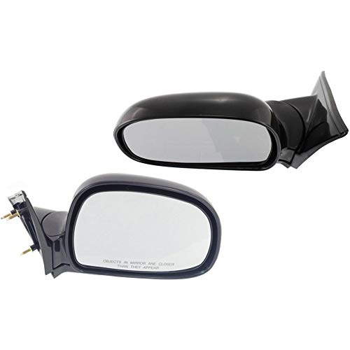 Manual Mirror compatible with Chevy S10 Pickup 94-97/Blazer 95-98 Right and Left Side Manual Folding Non-Heated Below Eyeline Type Paintable