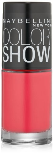 Maybelline New York Color Show Nail Lacquer, Pink Shock, 0.23 Fluid Ounce