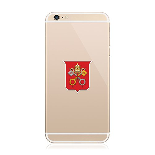 2X - Vatican City Coat of Arms Cell Phone Sticker Die Cut Decal Self Adhesive FA Vinyl