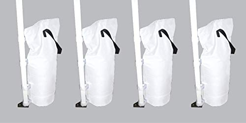(GigaTent Canopy Anchors Sand Bags for Outdoor Shelter (Canopy Leg Weights, Sand Bags) White)