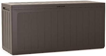 Prosperplast Boardebox Gartenbox Kissenbox Gartentruhe Verschließbar (280 Liter, Umbra)
