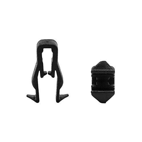 (uxcell 10Pcs Black Plastic Rivets Car Interior Dashboard Panel Retainer Clips Fastener)
