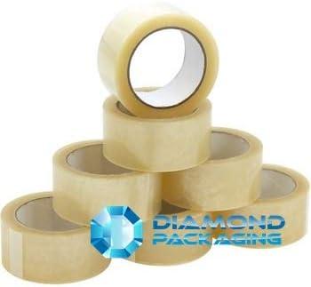 144 rouleaux de ruban adh/ésif transparent 48 mm x 66 m pour emballage de colis fournit un joint solide et s/écuris/é et collant. Emballage diamant