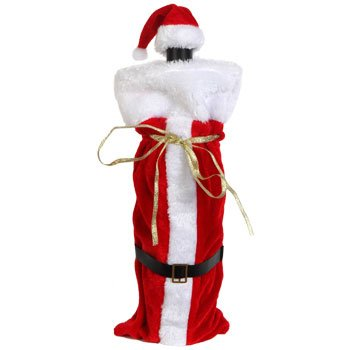 Santa Wine Bottle Gift Bags - 4