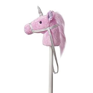 """Noa Store Giddy-Up Fantasy Stick Horse 37"""" Plush, Unicorn"""
