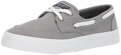 SPERRY Women's Crest Boat Sneaker, Grey, 8 M US ()