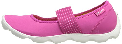 Crocs Women's 16025 Duet Busy Day Mary Jane Flat,Candy Pink/White,8 M US by Crocs (Image #5)