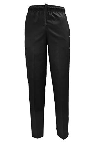 - Natural Uniforms Classic Chef Pants (Small, Black Single)