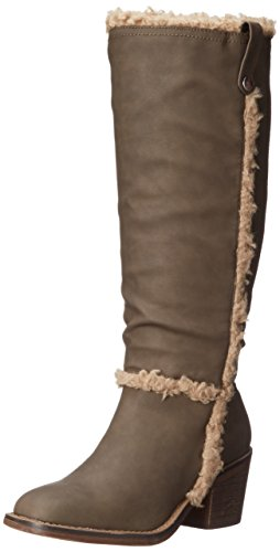 XOXO Women's Margareta Engineer Boot, Taupe, 8 M US