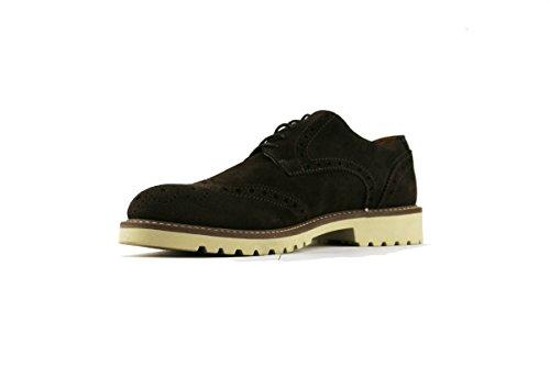 RUE 51 zapatos elegantes hombre gamuza marrón oscuro