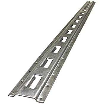 ABN 5' Foot Galvanized Zinc Plated Vertical E Track Accessories 1-Pack – E-Track Tiedown Rail for Securing Cargo