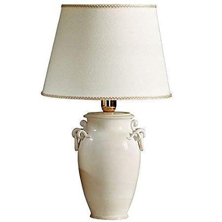 Lámpara con tulipa de centro, de mesa, de studio, de noche pintado ...