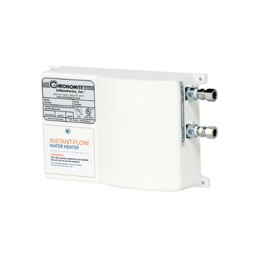 Heater Flow Controlled Water Tankless (Chronomite SR-20L/240 HTR 240-Volt 20-Amp SR Series Instant-Flow Low Flow Tankless Water Heater)