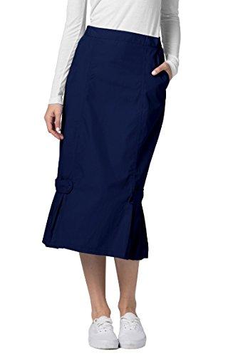 Adar Universal Tabbed Pleat Panel Skirt - 711 - Navy - 24