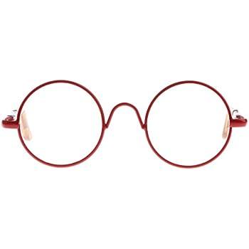 cce8bcc7e0 Dovewill For 12   Takara Blythe Dolls Hippy Clear Lens Round Frame Eyewear  Eye Glasses