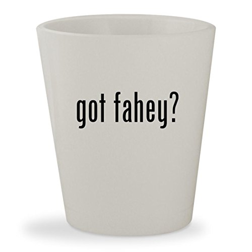 got fahey? - White Ceramic 1.5oz Shot - Glasses Marie Claire