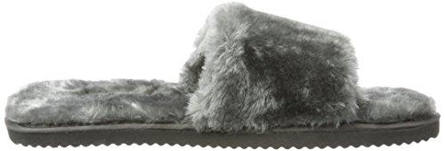 Femme Gris Flip Fur 0170 Pool flop steel Mules ICqwPO7Sq