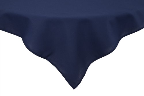 Tablecloths Blue Permalux - Riegel Permalux Cottonblend 64-Inch by 64-Inch Tablecloth, Flag Blue