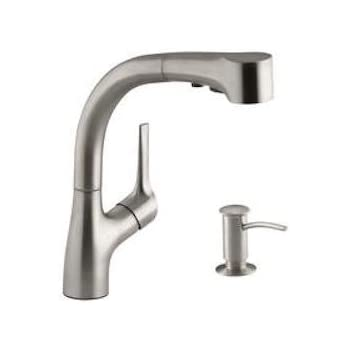 Kohler KR13963SDVS Elate Pull-Out Kitchen Faucet with Soap