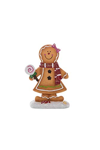 Transpac Imports D2201 Resin Gingerbread Figurines, Brown