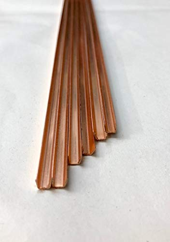 1/8'' U Copper Came / 30feet (2ft X 15 Pieces) by Cascade Metals (Image #1)
