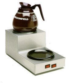 Bloomfield 8708DSU Coffee Warmer, 2-Station, Step-up, Stainless Steel, 14 1/2'' Depth, 7 1/2'' Width, 6 1/2'' Height