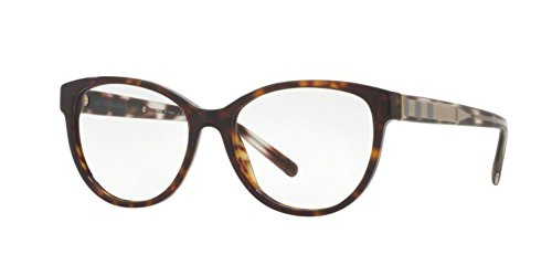 Burberry Women's BE2229 Eyeglasses Dark Havana - Frames Womens Burberry