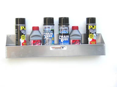 Pit Posse 567 Aerosol Shelf 8 Mount Silver Aluminum Cabinet Shop Garage Enclosed Race Car Nhra Trailer Accessory (Aluminum Garage)