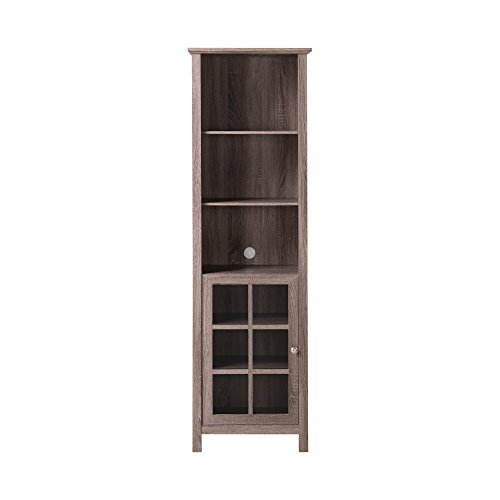 Homestar Provence Bookcase/Media Storage Pier, 15.35x21.65x70.87'', Reclaimed by Home Star
