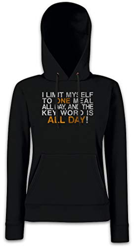 Sudadera Mujer Hoodie All Myself Para Capucha Con To I Meal Day Limit One 7UqUwFT