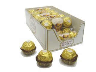 Ferrero Rocher Balls Hazelnut, 3 Piece Pak, 12 count by Rocher Balls