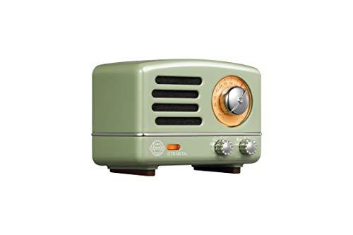 Fm Travel Speaker Radio - Muzen Portable Wireless High Definition Audio FM Radio & Bluetooth Speaker, Metal Green with Travel Case - Classic Vintage Retro Design