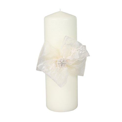 Delilah Unity Pillar Wedding Candle, Ivory