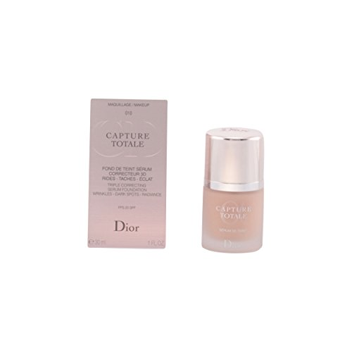 Christian Dior Capture Totale Triple Correcting Serum Foundation SPF 25, No.010 Ivory, 1 Ounce