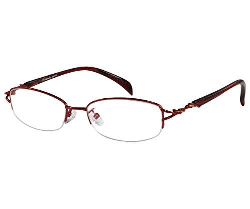 Ebe Stainless Steel Reading RX Glasses Women Burgundy Black - Your Sell Glasses Prescription