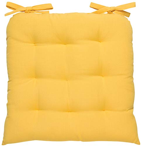 One Cushion - Now Designs Renew Collection Padded Chair Cushion Honey Yellow