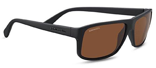 Serengeti 7952 Claudio, Sanded Dark Brown Frame, Polarized Drivers - Best Sunglasses Serengeti Drivers