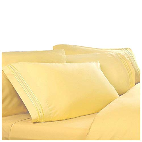 Queen Size Sheets, Color: Lemon Yellow, 1800 Thread Count Egyptian Bed Sheets, Deep Pocket. Reg. $129.95 39.95. Queen Size Sheet Sets.