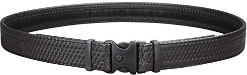 Uncle Mike's Law Enforcement Mirage Basketweave Ultra Duty Belt with Hook and Loop Lining (Large, Black) (Renewed) ()