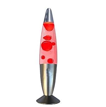 Lampe A Lave Rouge Decorative De 40 Cm Amazon Fr Luminaires Et