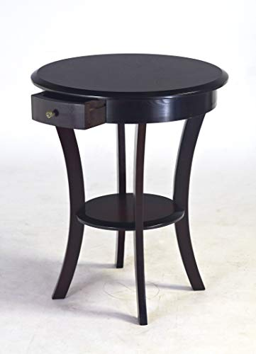 Frenchi Home Furnishing Frenchi Furniture Wood Round Table with Drawer Shelf