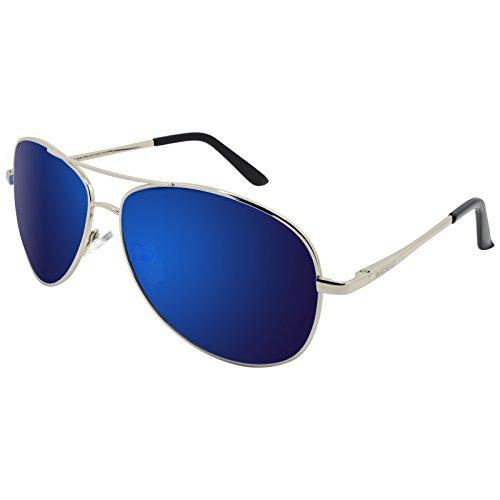 de Gafas Spring Lente Color Marco Metal Bisagra Hombre Plateado Oscuro WHCREAT Proteccion Azul de Espejo UV sol 400 de Polarizado 8Znq6xfEw