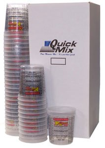 BOX of 100 each - 160 Ounce PAINT MIXING CUPS = 5 QUART Bucket) by Custom Shop - Cups have calibrated mixing ratios on side of cup BOX of 100 Paint and Epoxy Mixing Cups by Custom Shop
