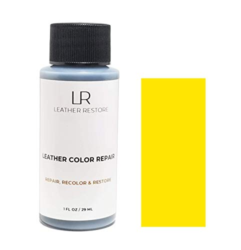 Leather Restore Leather Color Repair, Yellow 1 OZ - Repair, Recolor and Restore Couch, Furniture, Auto Interior, Car Seats, Vinyl and Shoes ()