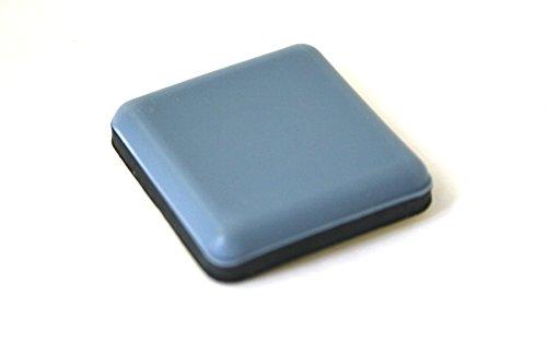 GleitGut® 16 x Teflongleiter Selbstklebend Eckig 20 x 20 mm - Möbelgleiter Mit PTFE-Gleitfläche - Für Leichte, Kleinere Möbelstücke