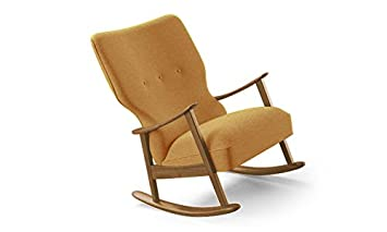 Marvelous Amazon Com Keyser Mid Century Modern Rocking Chair Squirreltailoven Fun Painted Chair Ideas Images Squirreltailovenorg