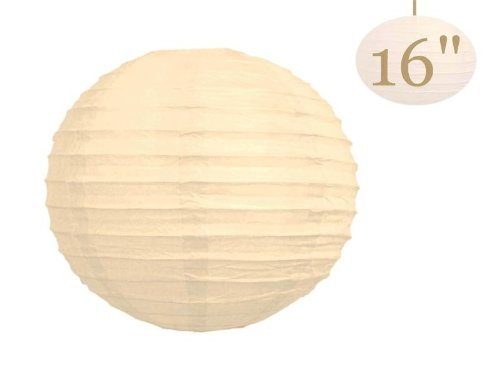 BalsaCircle 12 pcs Cream 16-Inch Tall Paper Shades Lanterns - Lamp Wedding Event Birthday Party Room Home Decorations Supplies -